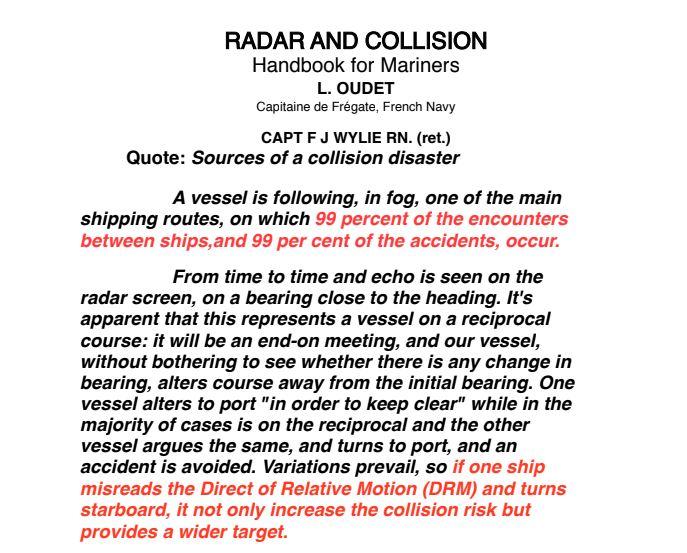 technology collision avoidance at sea
